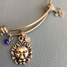 Silver Bangle  Inspired by  Greek Mascot Charm by Arrimage on Etsy