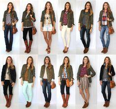 J's Everyday Fashion: Today's Everyday Fashion: Military Jacket, 12 Ways