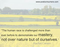 Rachel Carson Quote: The Mastery of Ourselves - Postconsumers Earth Day Quotes, Green Quotes, Rachel Carson, Save The Planet, True Stories, Favorite Quotes, Planets, Environment, Education