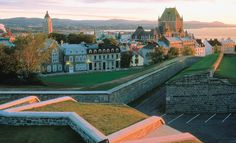 La Citadelle and Château Frontenac The Citadel and Hotel Chateau Frontenac Quebec City Quebec Old Quebec, Quebec City, Chateau Frontenac Quebec, Places Around The World, Around The Worlds, Plains Of Abraham, Chute Montmorency, Canada Pictures, Canada