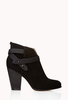 Sleek Faux Suede Booties | FOREVER21 - 2000128442. I love these, even if they are too high for me.