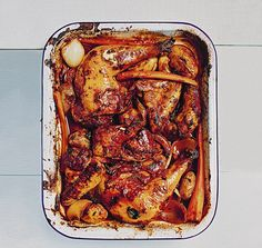 Raise a glass with Rachel Khoo! Poulet roti au vin rouge Roast red wine chicken