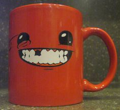 """He loves the game """"Super Meatboy"""""""