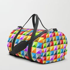 aa93d4873431 Colorful quarter square triangle pattern Duffle Bag by  PLdesign  style   fashion  accessories