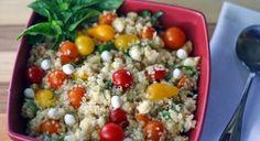 Delicious #recipes of the day, Caprese Quinoa Salad   #veggiebasics #saladrecipe #veggiesaladrecipes