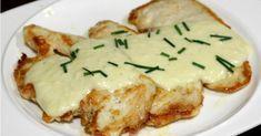 Filetes de pollo con salsa de queso ¡Muy fáciles!