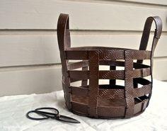 DIY Leather Basket