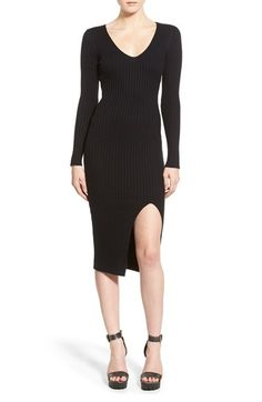 Missguided Split Sweater Dress available at #Nordstrom