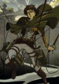levi Official Art shingeki no kyojin Mikasa Ackerman attack on ...