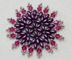 Snowflake 13 Beaded Ornament Pattern