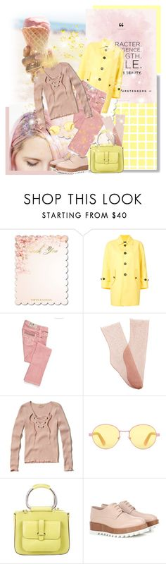 """Yellow and pink!"" by beautiful-723 ❤ liked on Polyvore featuring Dsquared2, Brother Vellies, Hollister Co., Gucci, Jil Sander and Pixie"