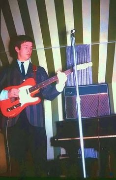 Very young Eric Clapton with The Yardbirds