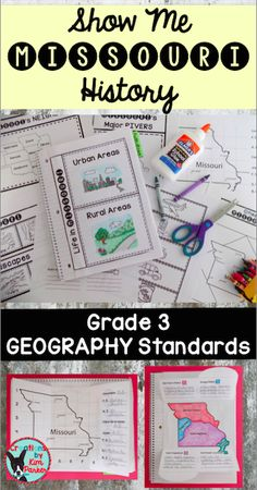 $ Looking for a way to teach your third grade students about Missouri History? The 17 interactive notebook pages in this resource cover the Missouri 3rd grade Geography Grade Level Expectations! $