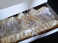 White Bridal Garter, Ivory Wedding Garter, Bridal Lace, Lace Garter, Tape Measure, Thigh, Handmade, Etsy Shop, Bride