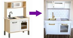 Så här lätt skapar du ett lyxigt minikök i marmor och guld för de allra minsta kockarna.