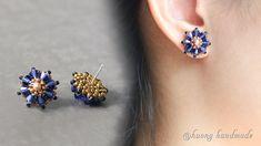 Seed Bead Earrings, Simple Earrings, Beautiful Earrings, Beaded Earrings, Beaded Jewelry, Stud Earrings, Handmade Bracelets, Earrings Handmade, Handmade Jewelry