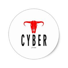 Cyber & Bull by VIMAGO Classic Round Sticker - Xmas ChristmasEve Christmas Eve Christmas merry xmas family kids gifts holidays Santa