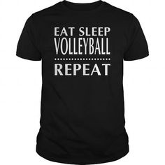 Awesome Volleyball Lovers Tee Shirts Gift for you or your family member and your friend:  eat sleep voleyball Tee Shirts T-Shirts