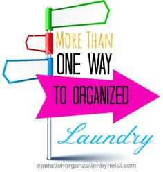 Operation Organization : Professional Organizer Peachtree City, GA : More Than One Way to Organized :: Laundry