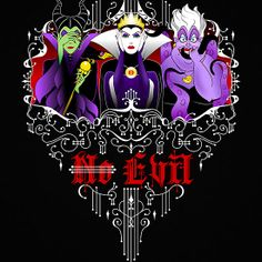 Three Wise Villains (black) #disney #design #art