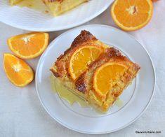 reteta prajitura insiropata cu iaurt si portocale reteta greceasca de portokalopita Pastries, French Toast, Sweets, Breakfast, Food, Greece, Sweet Pastries, Meal, Goodies