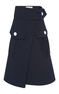 Patch Pocket Skirt by MARNI