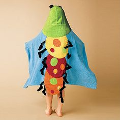A hooded towel with a burst of color that's sure to make bath time fun!