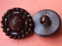 10 kleine KNÖPFE dunkelbraun 16mm (5644-7) Knopf