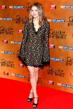 'Game of Thrones': Red Carpet Style in London Premiere | Hannah Murray | EW.com