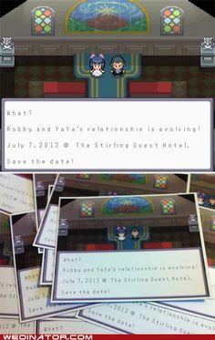 a pokemon themed wedding invite. genius!!