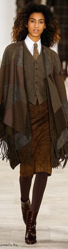 Totally my style...Pinned from Vickie Lucas Hafer - Ralph Lauren Fall 2016 RTW l Ria