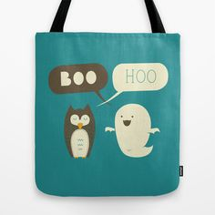 Boo Hoo Tote Bag by AGRIMONY // Aaron Thong - $22.00