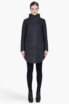 HELMUT Black Padded Nitro Coat (front) - $805