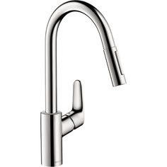 Hansgrohe 04505000 Focus Polished Chrome Pullout Spray Kitchen Faucets  eFaucets.com