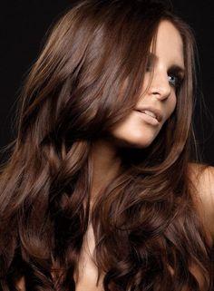 Brown color silk hair body wave long wavy hair