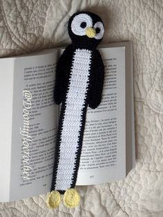 Pingouin Tux Marque pages en coton par Doomyflocrochet sur Etsy