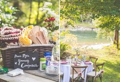 Keep guests comfortable at an outdoor wedding by having blankets, fans, tissues, allergy medicine, bug spray... | Evidence of Life Photography: Down by the Riverside | Evidence of Life Photorgaphy | Seattle Wedding Photographer