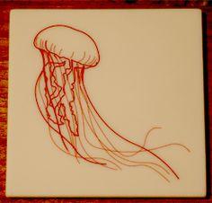 man o war, laser etched corian, tinted epoxy.  Design: brdworks.com