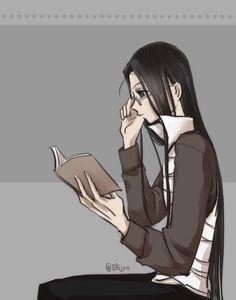 Illumi Zoldyck - reading - HUNTERxHUNTER - hxh  - anime - h x h - hunter x hunter - hisoka morow - chrollo lucilfer - Adultrio - hisoillu