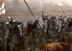art by Jose Daniel Cabrera Pena - The battle of Swiecino or Schwetz for Medieval Warfare Magazine; German teutonic knights faced lipka tatars and poles in (detail) Medieval Knight, Medieval Armor, Medieval Fantasy, Fantasy Battle, Fantasy Armor, Military Art, Military History, Valhalla, Les Runes