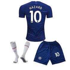 ff0333875 Chelsea Home 10 Hazard 2018-2019 Season Kids/Youth Soccer Jersey & Shorts &