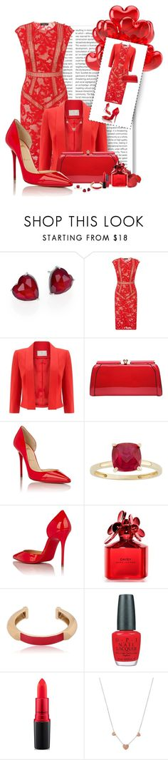 """Red Passion"" by spells-and-skulls ❤ liked on Polyvore featuring Adriana Orsini, Oris, Little Mistress, Jacques Vert, Christian Louboutin, Marc Jacobs, Pluma, OPI, MAC Cosmetics and Michael Kors"