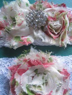 Red floral wedding garter set  bridal by BridalByModishSwank, $25.00