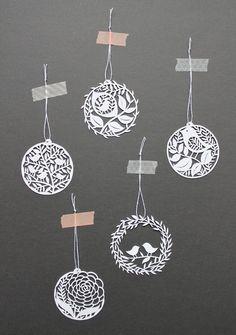 giochi di carta: My paper cut for Christmas