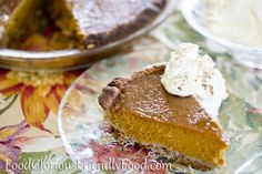 Pumpkin Pie- Gluten and Dairy free.  This Aussie Blogger loves her pumpkin pie...to find out why, check out the recipe!  http://www.foodgloriousfriendlyfood.com/1/post/2013/10/pumpkin-pie-gluten-and-dairy-free.html