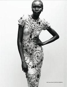 Alek Wek is one of my favorite models.