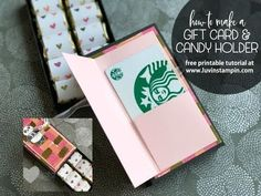 Gift Card & Candy Holder Box feat.  Party Panda Sale A Bration Stamp Set
