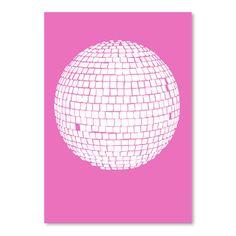 "East Urban Home Mirror Ball Graphic Art Size: 14"" H x 11"" W"