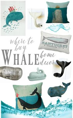Insane Where to shop for super cute and whimsical WHALE decor items for beach coastal style home decorating The post Where to shop for super cute and whimsical WHALE decor items for beach co . Beach Cottage Style, Beach Cottage Decor, Coastal Cottage, Coastal Homes, Coastal Style, Coastal Decor, Coastal Living, Coastal Curtains, Coastal Entryway