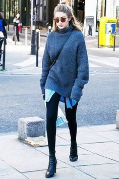 Winter outfit by Gigi Hadid